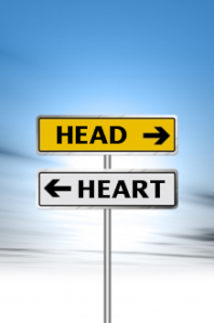 opposing-arrow-sign-head-vs-heart